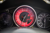 2017 Fiat 124 Spider Abarth gauges red tachometer