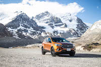 2017 ford escape mountains in jasper alberta national park