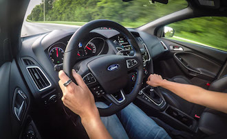 2017 Ford Focus RS driving pov image