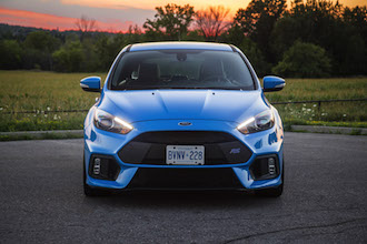 2017 Ford Focus RS nitrous blue