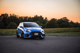 2017 Ford Focus RS sunset view blue canada new used