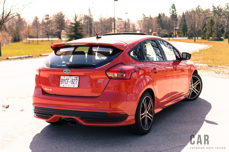 2017 Ford Focus ST rear center exit exhaust