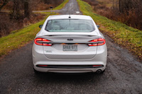 2017 Ford Fusion Energi Platinum rear view spoiler lights