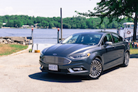 2017 Ford Fusion blue gray silver