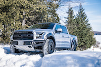 2017 Ford F-150 Raptor silver paint