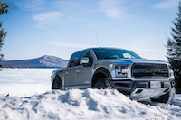 2017 Ford F-150 Raptor snow off-roading