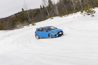 2017 Ford Focus RS drifting snow