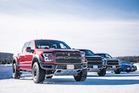 2017 Ford F-150 Raptor red lineup