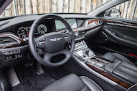 2017 Genesis G90 3.3T black interior leather brown accent wood