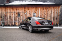 2017 Genesis G90 3.3T rear quarter view