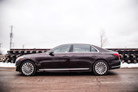 2017 Genesis G90 3.3T side view wheels