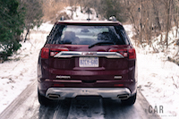 2017 gmc acadia denali rear