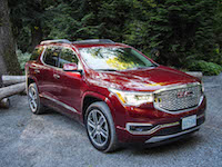 2017 GMC Acadia denali red