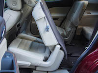 2017 GMC Acadia second row seats folding