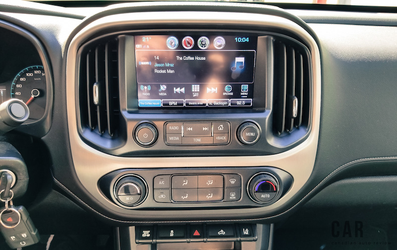 2017 GMC Canyon center console