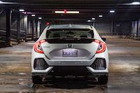 Honda Civic Hatchback LX Manual rear hatch view