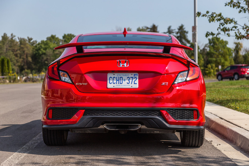 2017 Honda Civic Si Coupe rear taillights spoiler exhaust