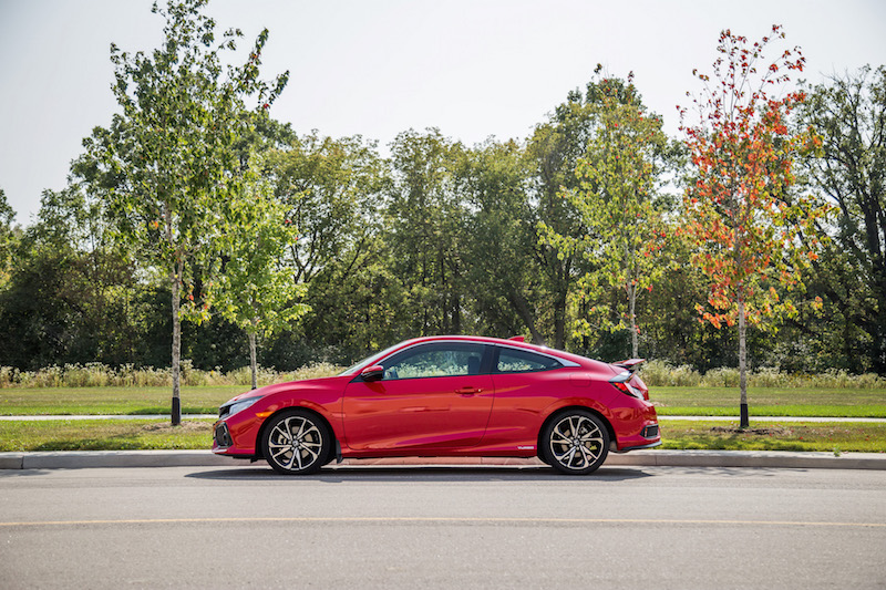 2017 Honda Civic Si Coupe side view