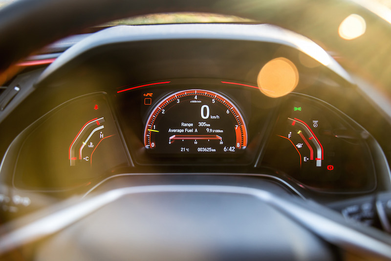 2017 Honda Civic Type R FK8 gauges