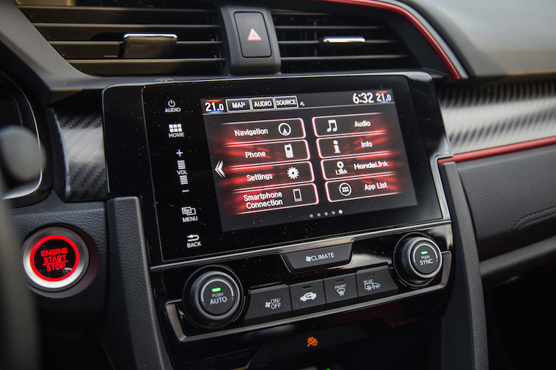 2017 Honda Civic Type R FK8 infotainment unit