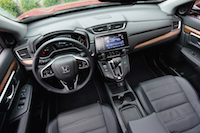 2017 Honda CR-V Touring black interior