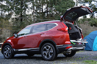 2017 Honda CR-V Touring ski storage items