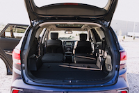 2017 Hyundai Santa Fe XL seats folded down trunk view
