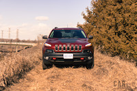 2017 Jeep Cherokee Trailhawk deep cherry red