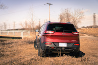 2017 Jeep Cherokee Trailhawk rear quarter view
