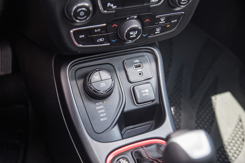 2017 Jeep Compass Trailhawk off road dials controls 4wd low