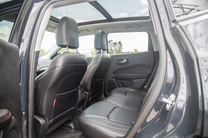 2017 Jeep Compass Trailhawk rear seats panoramic roof
