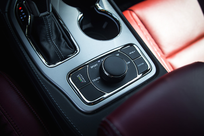 2017 Jeep Grand Cherokee SRT launch control button