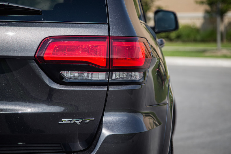 2017 Jeep Grand Cherokee SRT badge taillights