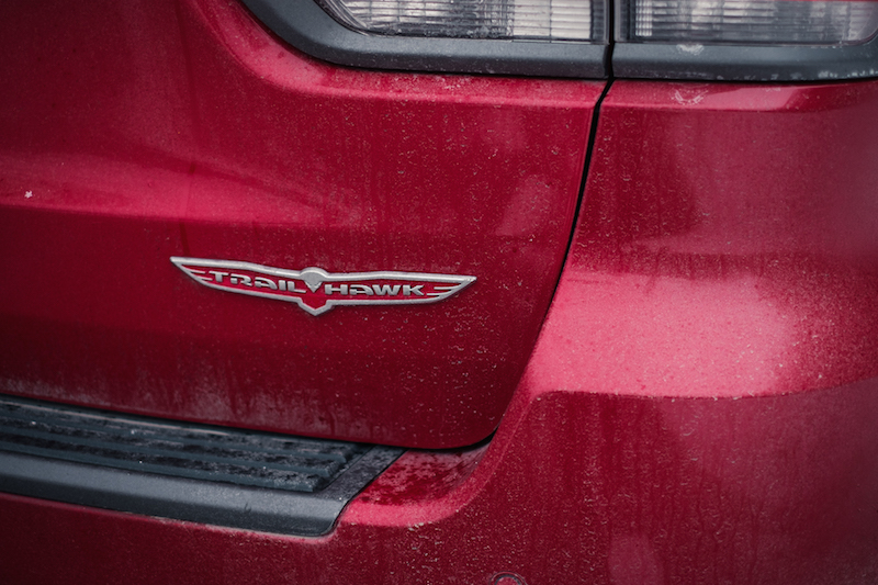 2017 Jeep Grand Cherokee Trailhawk rear badge