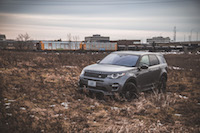 2017 Land Rover Discovery Sport with train offroading