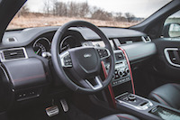2017 Land Rover Discovery Sport interior black red