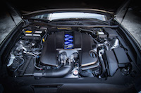 2017 Lexus GS F v8 engine bay