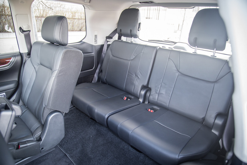 2017 Lexus LX 570 third row rear seats