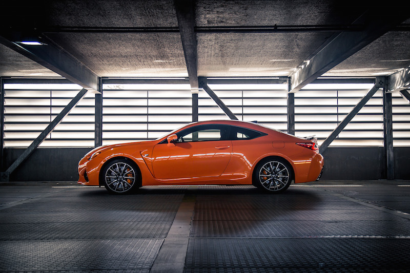2017 Lexus RC F orange paint colour