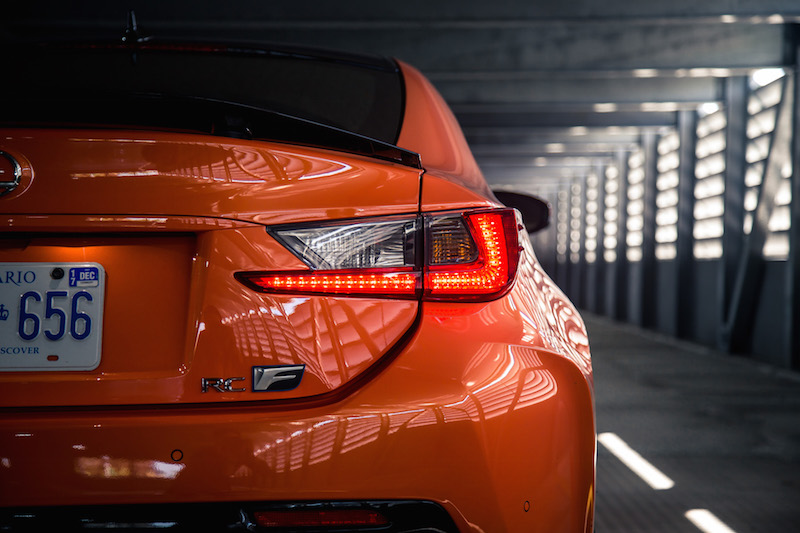 2017 Lexus RC F rear tail lights