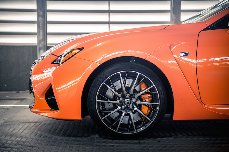2017 Lexus RC F wheels orange calipers