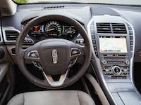 2017 Lincoln MKZ Hybrid new brown leather steering wheel