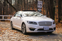 Lincoln MKZ Hybrid white canada review