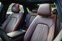 Lincoln MKZ Hybrid brown leather seats