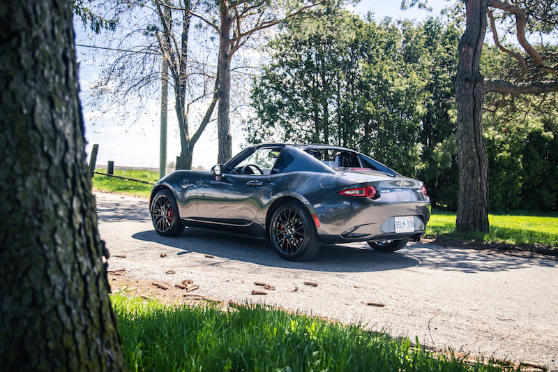 2017 Mazda MX-5 RF Grand Sport rear quarter view top down