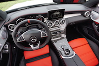 2017 Mercedes-AMG C 63 S interior black red