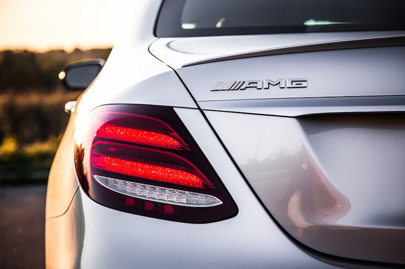 2017 Mercedes-AMG E43 taillights amg badge