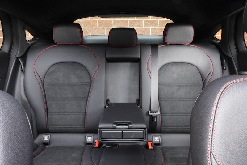 2017 Mercedes-AMG GLC 43 4MATIC Coupe rear seat room