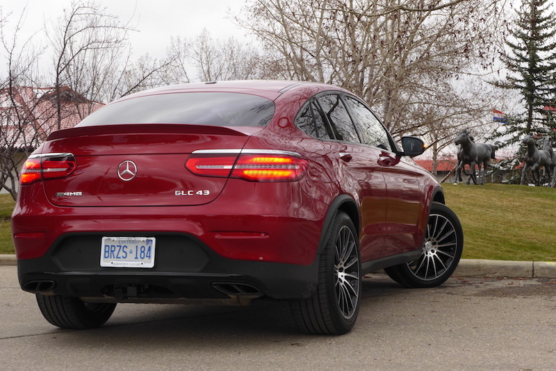 2017 Mercedes-AMG GLC 43 4MATIC Coupe rear quarter view
