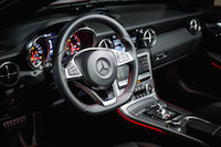 2017 Mercedes-AMG SLC 43 interior steering wheel